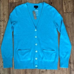 J Crew cashmere button up sweater, Med, NWT